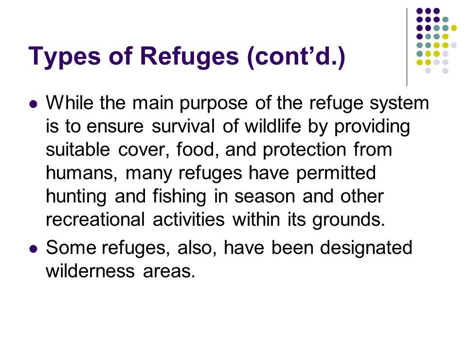 Types of Refuges (cont'd.)