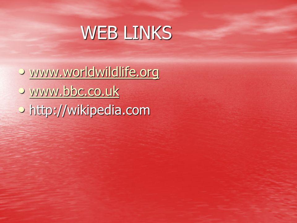 WEB LINKS www.worldwildlife.org www.bbc.co.uk http://wikipedia.com