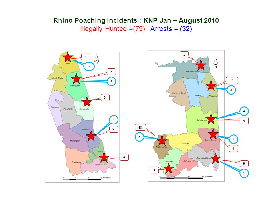 Rhino Poaching Incidents : KNP Jan – August 2010
