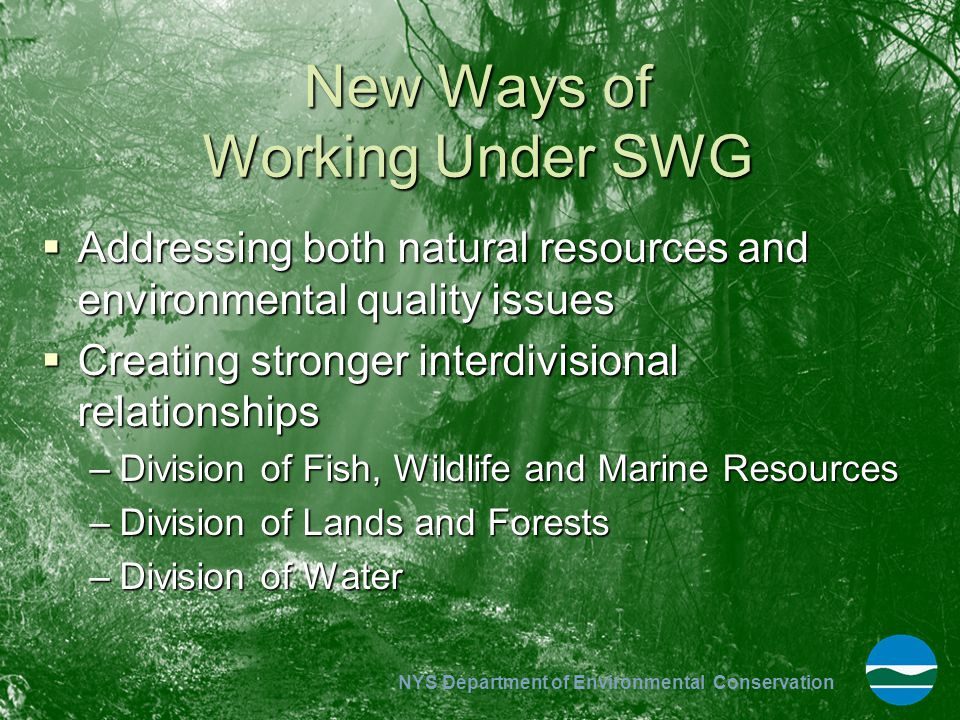New Ways of Working Under SWG