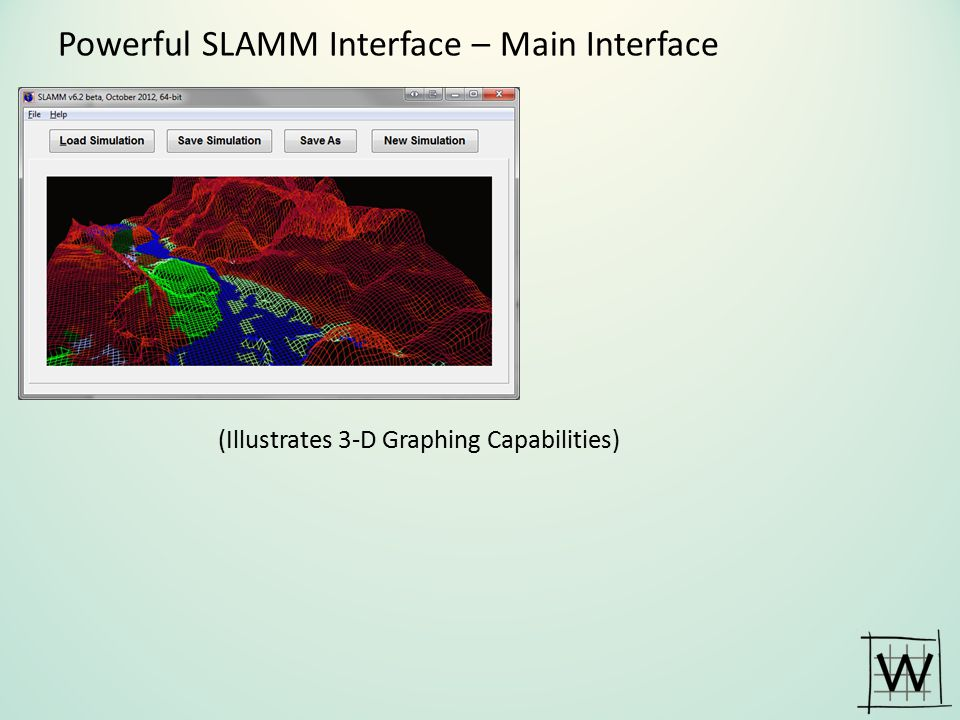 Powerful SLAMM Interface – Main Interface