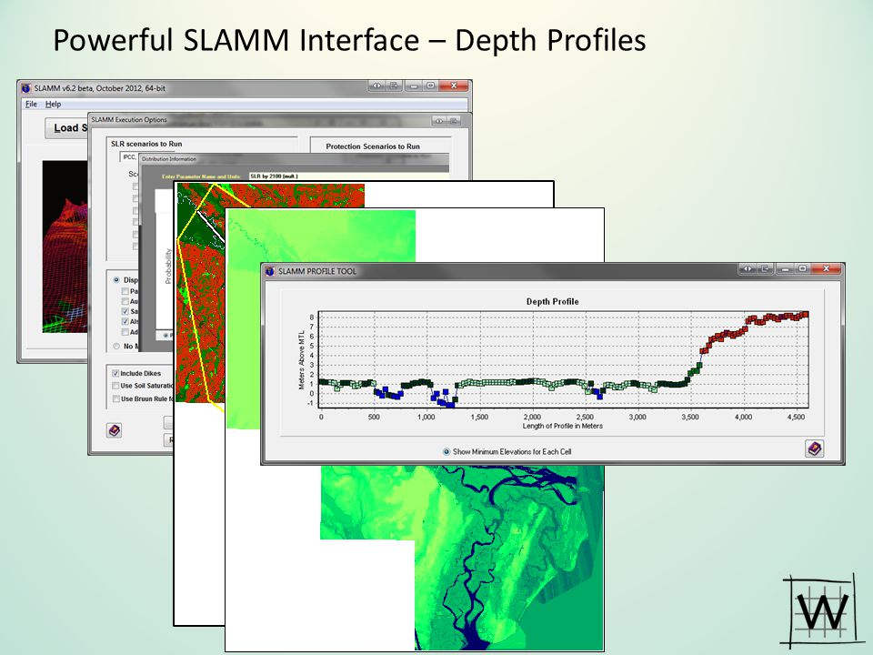 Powerful SLAMM Interface – Depth Profiles
