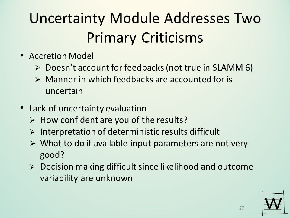 Uncertainty Module Addresses Two Primary Criticisms