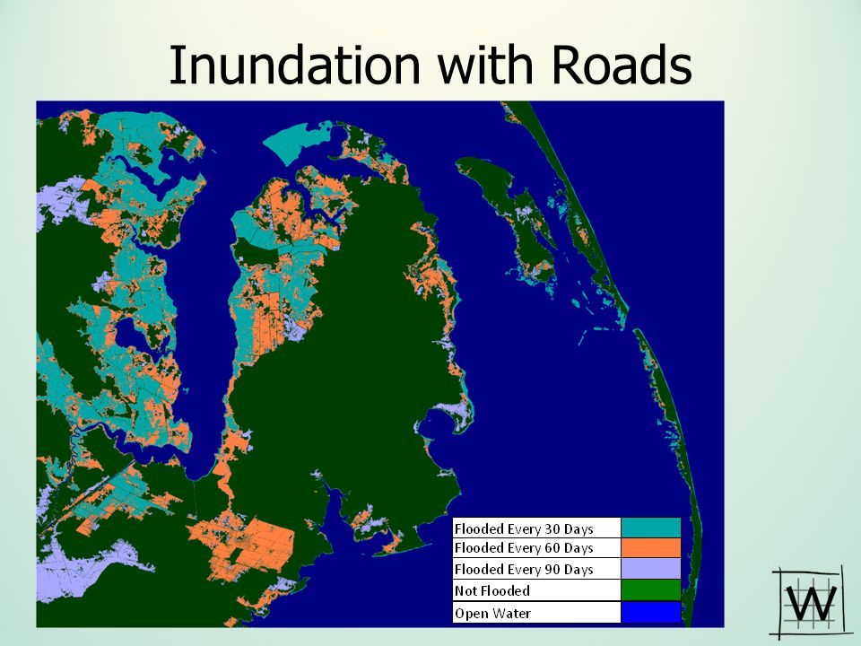 Inundation with Roads