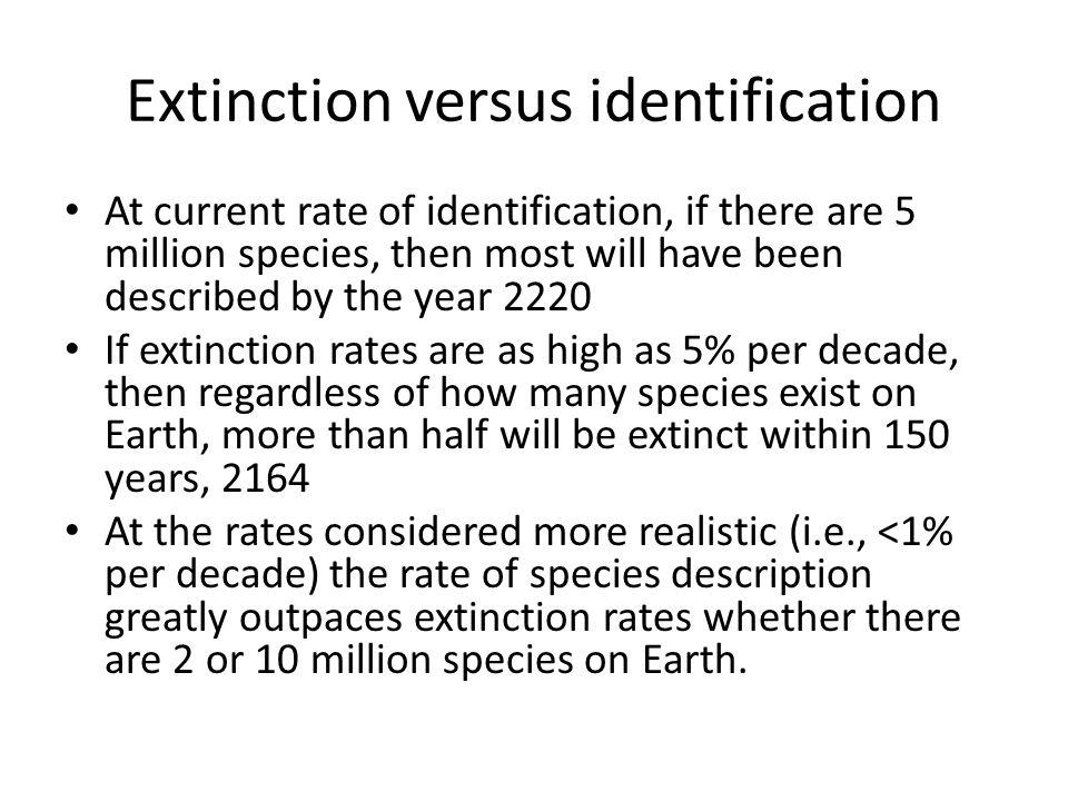 Extinction versus identification