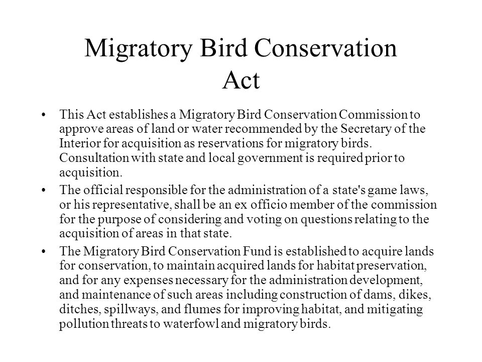 Migratory Bird Conservation Act