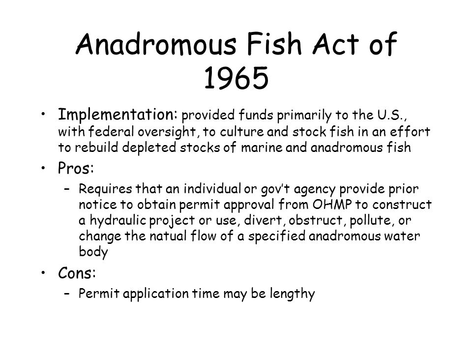 Anadromous Fish Act of 1965