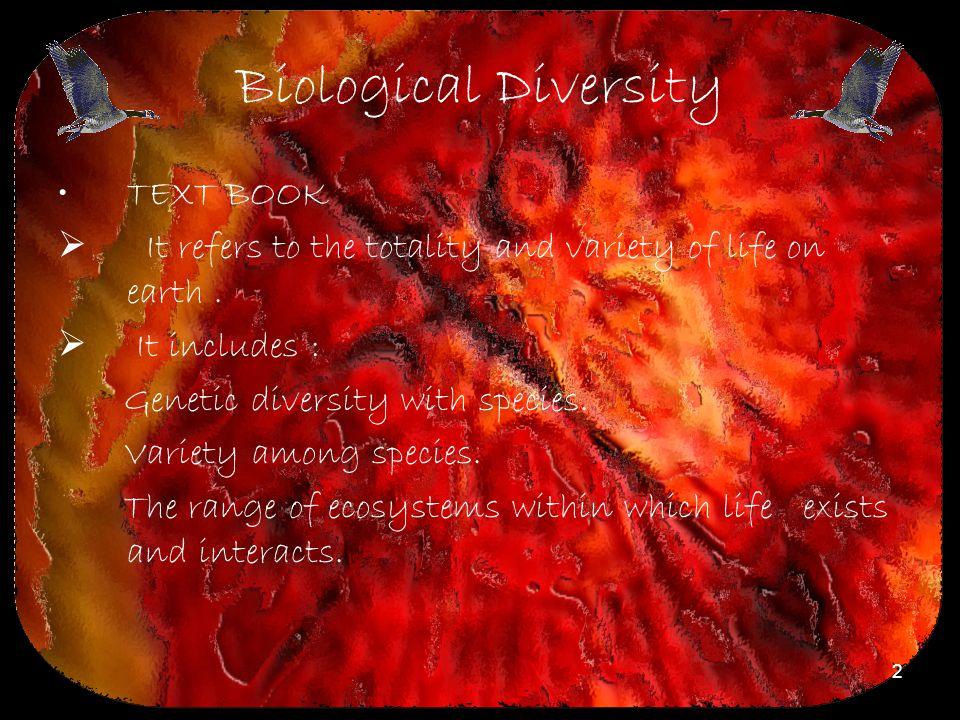 Biological Diversity TEXT BOOK