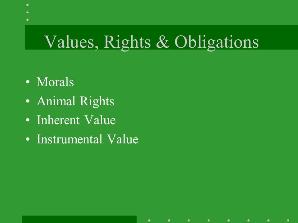 Values, Rights & Obligations