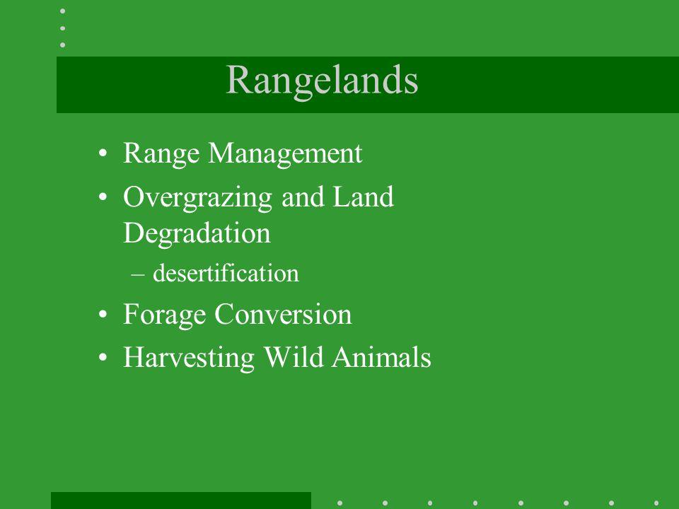 Rangelands Range Management Overgrazing and Land Degradation