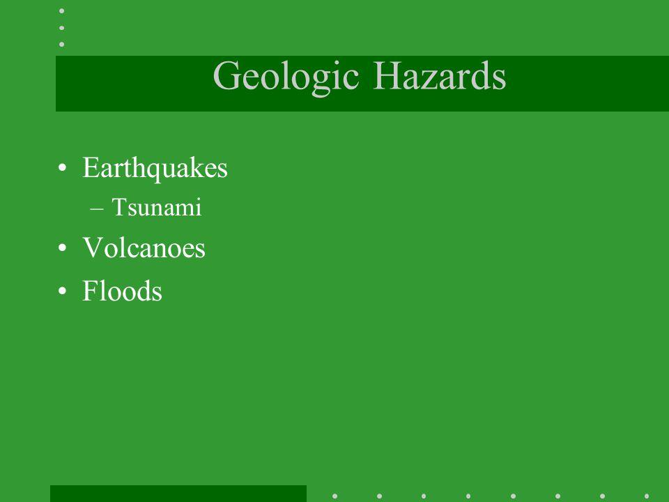 Geologic Hazards Earthquakes Tsunami Volcanoes Floods