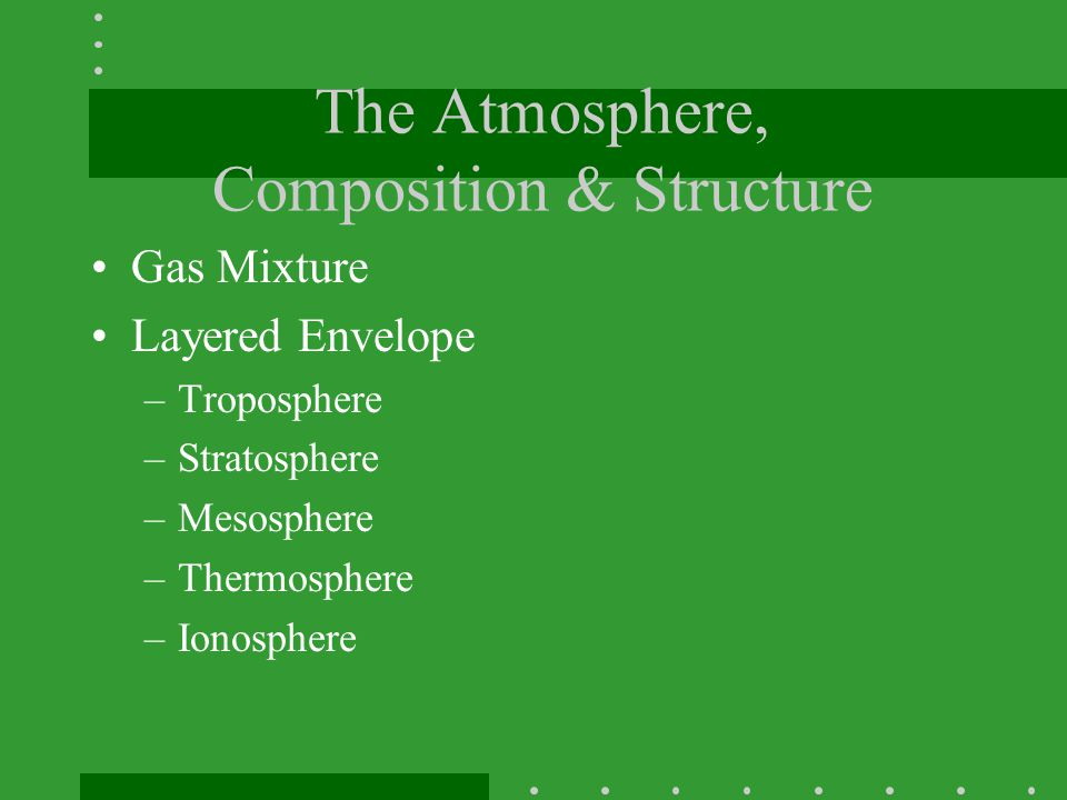 The Atmosphere, Composition & Structure