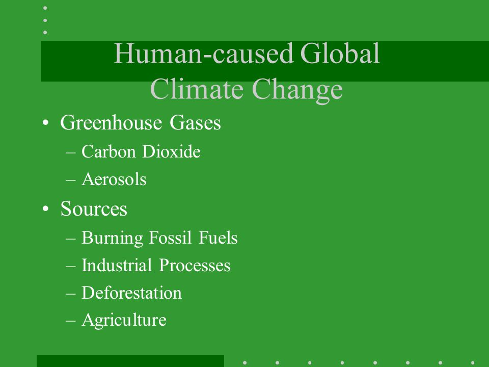 Human-caused Global Climate Change