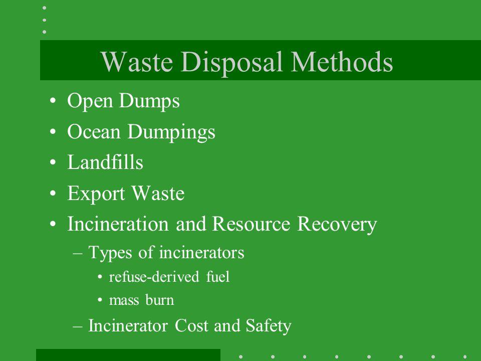 Waste Disposal Methods