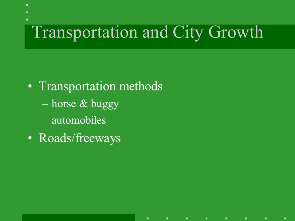Transportation and City Growth