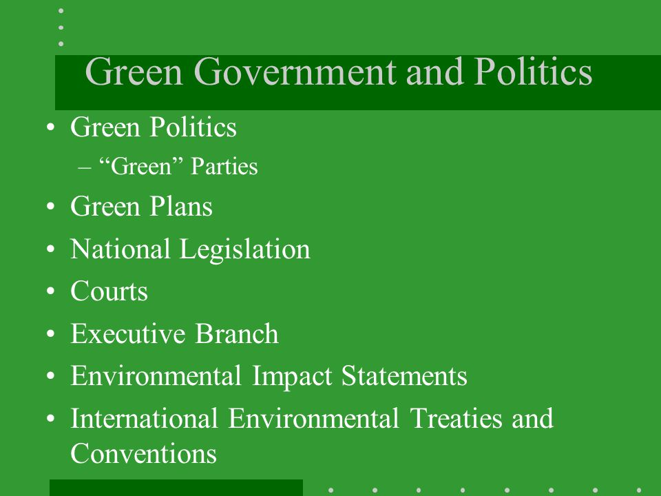 Green Government and Politics