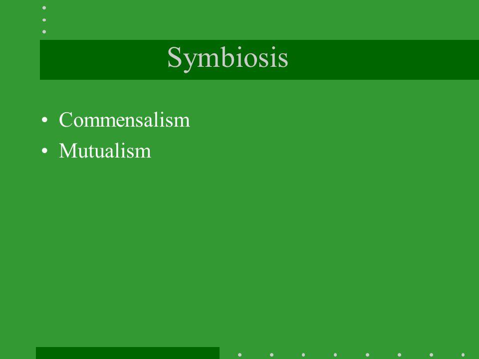 Symbiosis Commensalism Mutualism