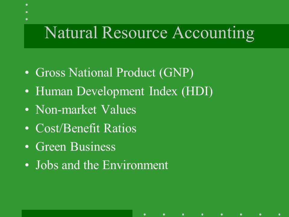 Natural Resource Accounting