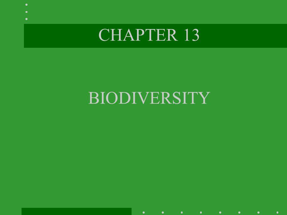 CHAPTER 13 BIODIVERSITY