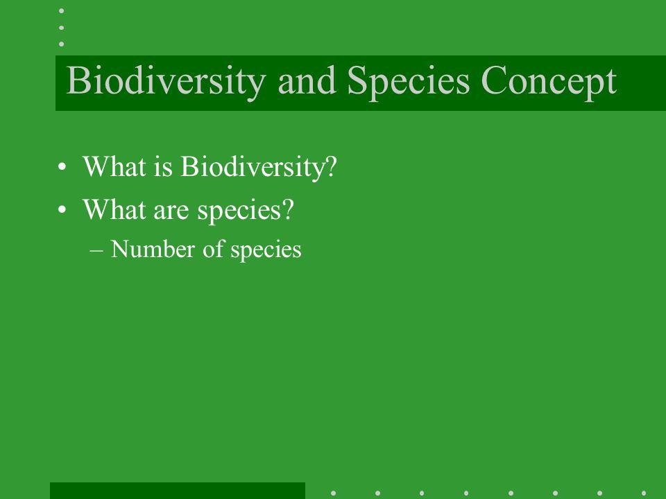 Biodiversity and Species Concept