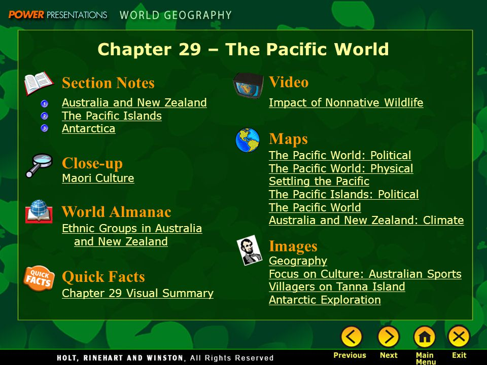 Chapter 29 – The Pacific World