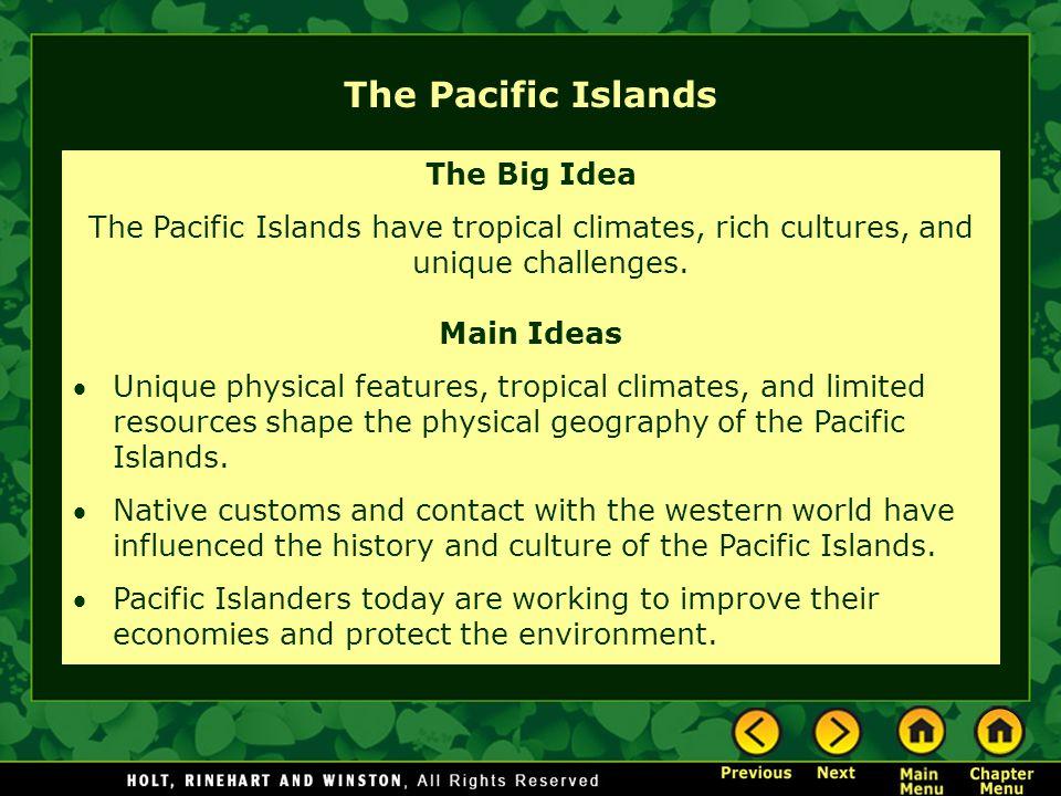The Pacific Islands The Big Idea