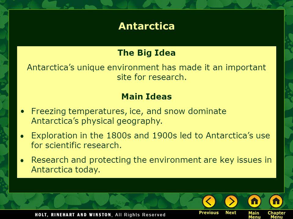 Antarctica The Big Idea