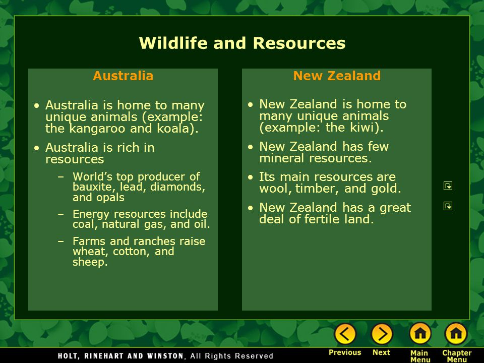 Wildlife and Resources