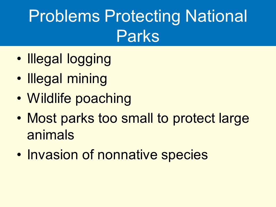Problems Protecting National Parks