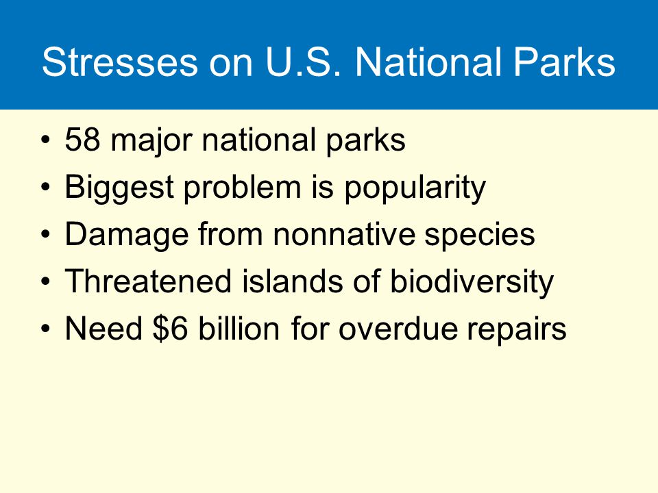 Stresses on U.S. National Parks
