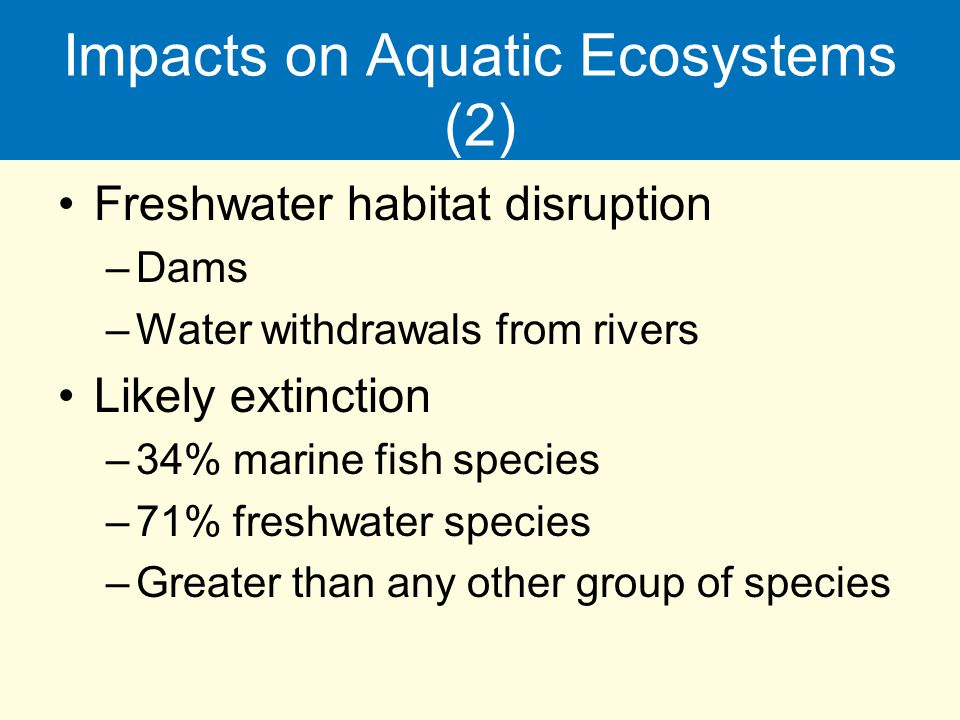 Impacts on Aquatic Ecosystems (2)