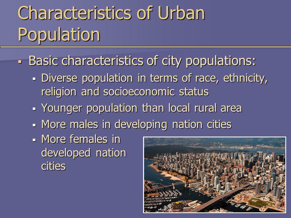 Characteristics of Urban Population
