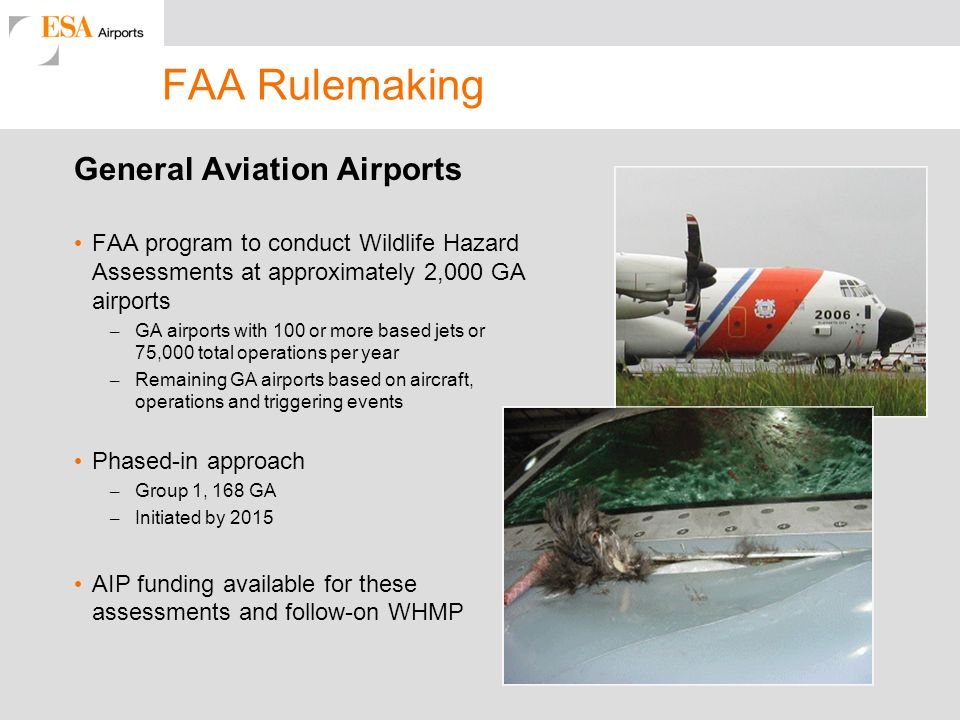 FAA Rulemaking General Aviation Airports