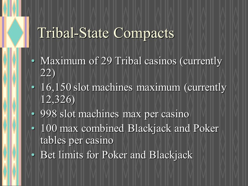 Tribal-State Compacts