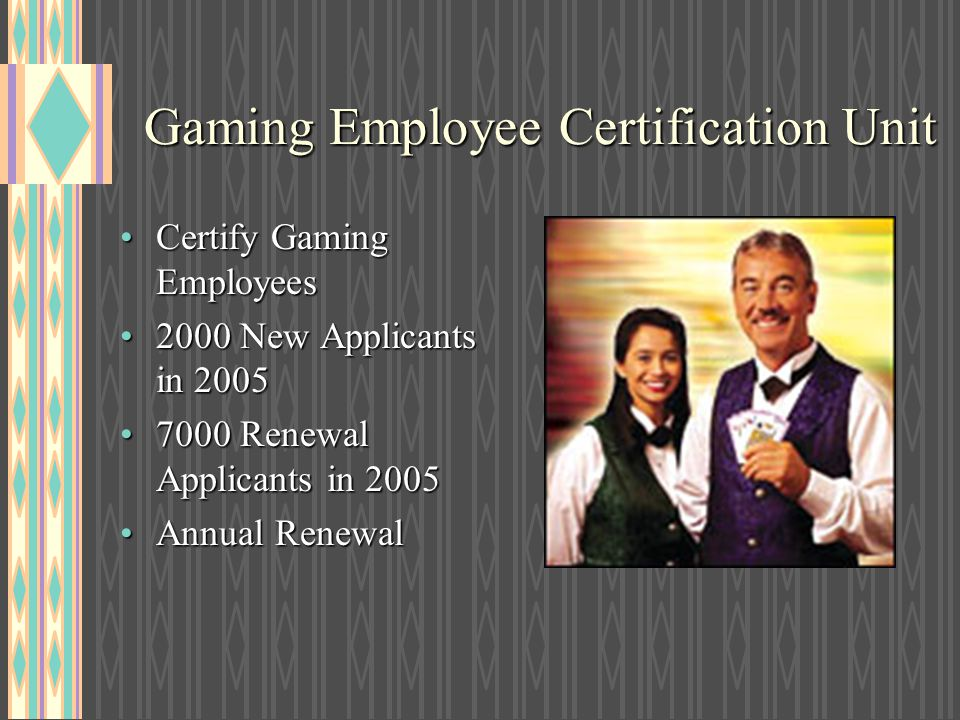 Gaming Employee Certification Unit