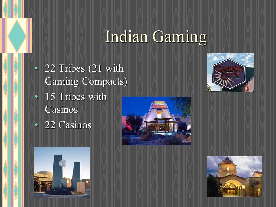 Indian Gaming 22 Tribes (21 with Gaming Compacts)
