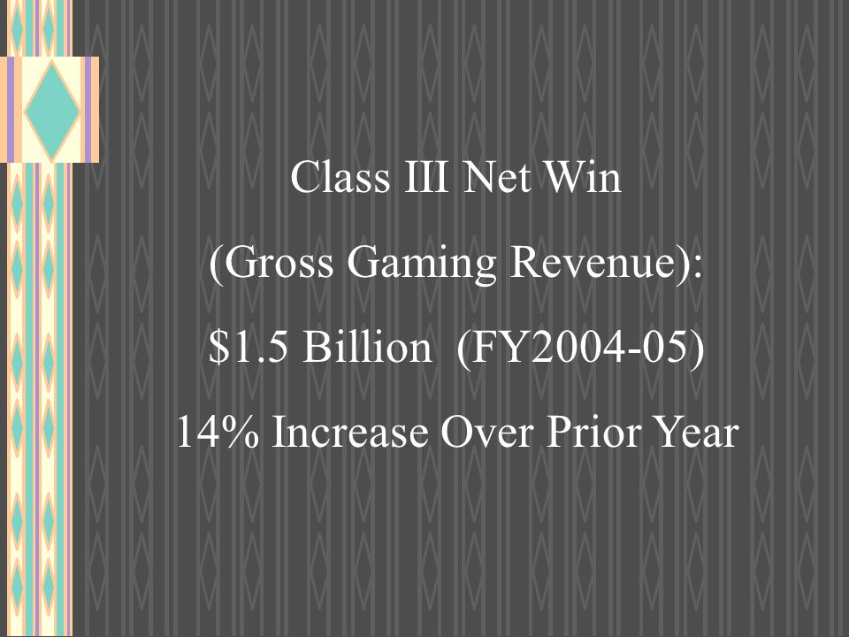 (Gross Gaming Revenue): $1.5 Billion (FY2004-05)