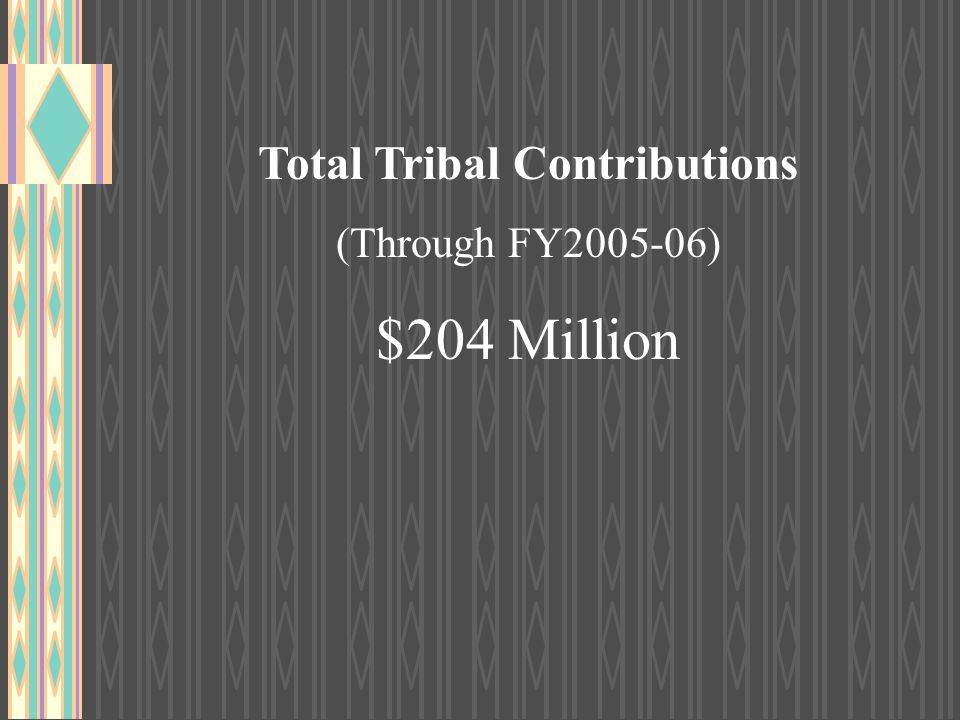 Total Tribal Contributions