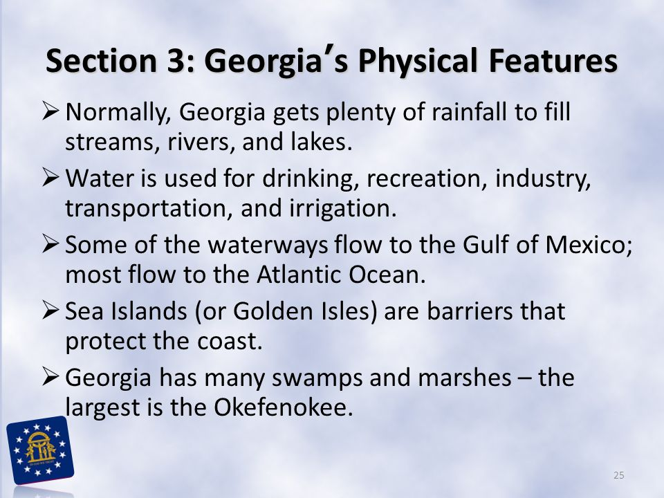 Section 3: Georgia's Physical Features