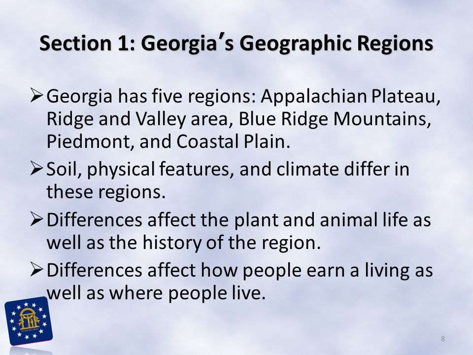 Section 1: Georgia's Geographic Regions