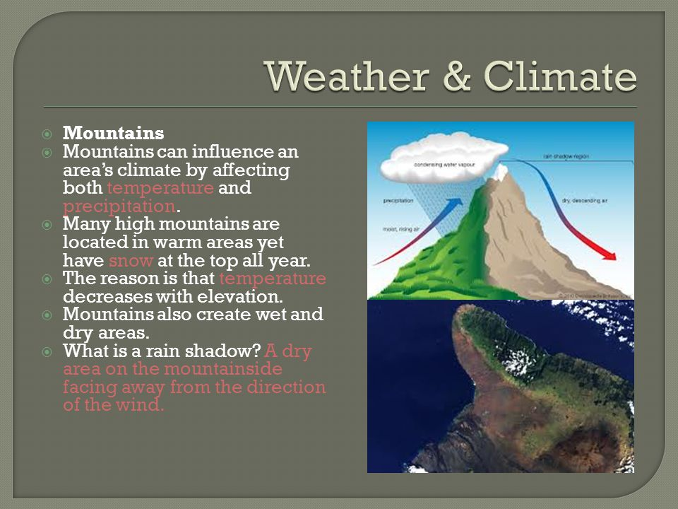 Weather & Climate Mountains