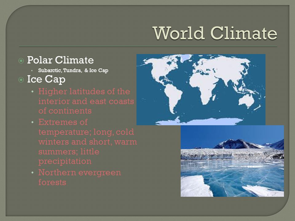 World Climate Polar Climate Ice Cap