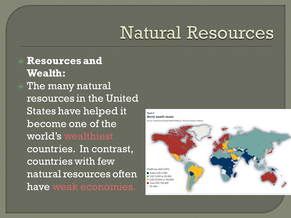 Natural Resources Resources and Wealth: