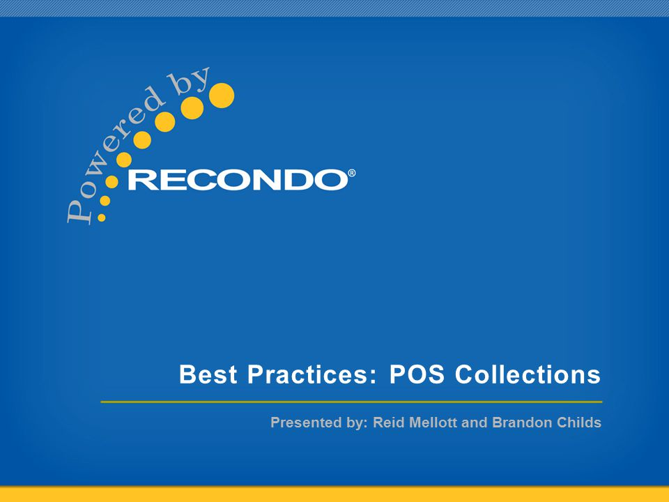 Best Practices: POS Collections
