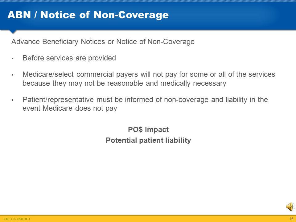 ABN / Notice of Non-Coverage