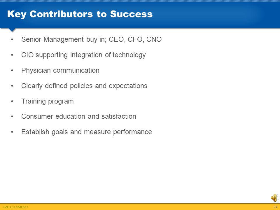 Key Contributors to Success