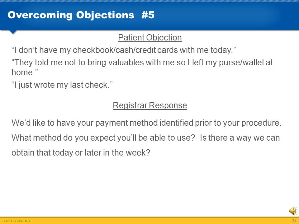 Overcoming Objections #5