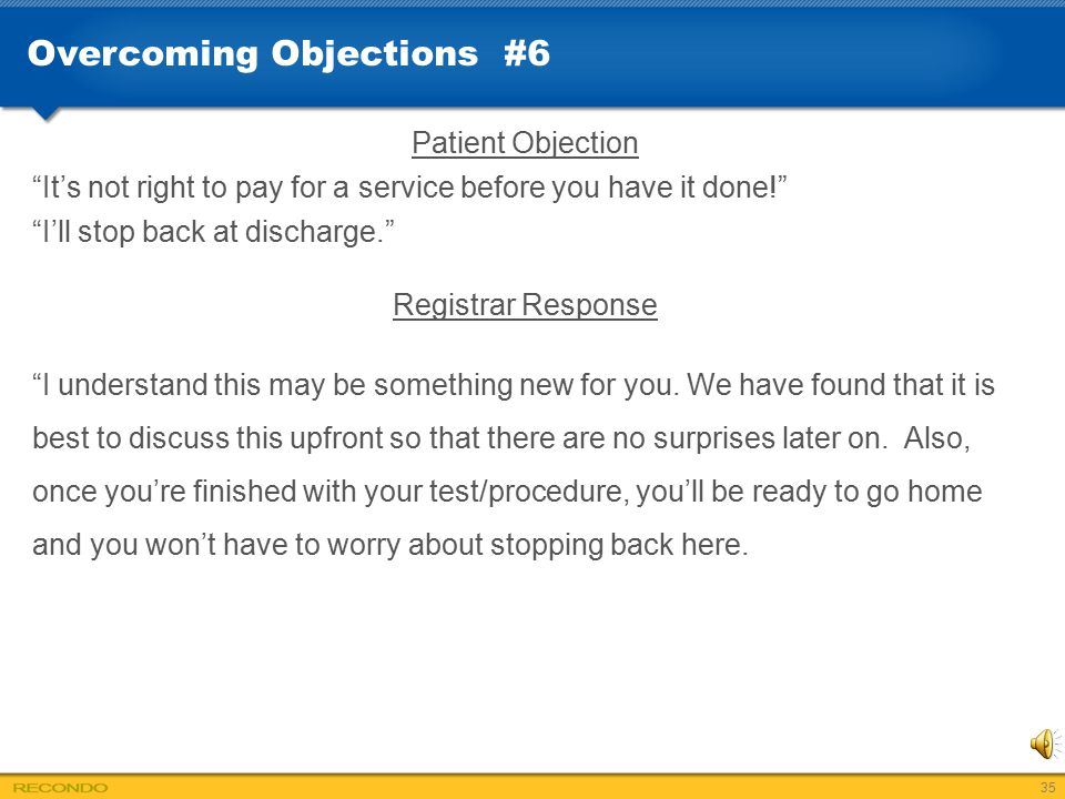 Overcoming Objections #6
