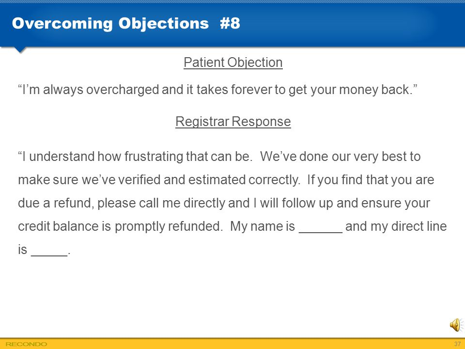 Overcoming Objections #8