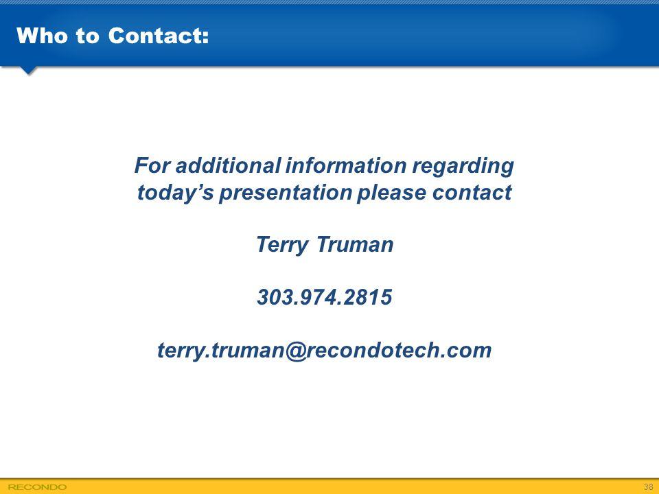 For additional information regarding